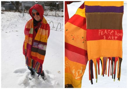 Old T-shirts Become A New Scarf