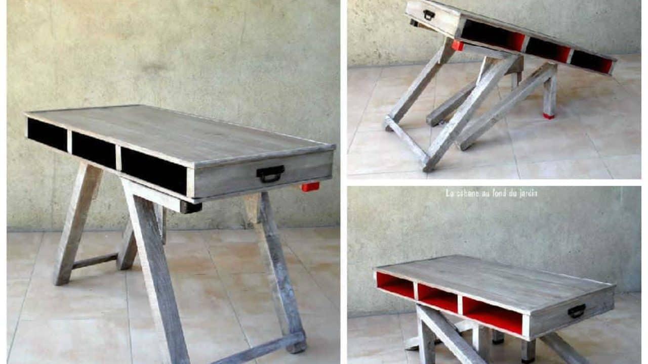 Table Basse Et Haute 2by1 En Bois De Palettes / Modular ...