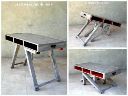 Table Basse Et Haute 2by1 En Bois De Palettes / Modular Pallet Coffee Table