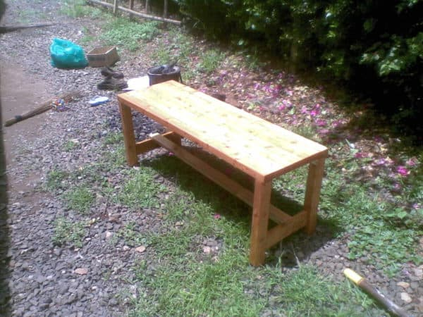 Bench Made With Upcycled Laminated Timber Recycled Furniture Wood & Organic