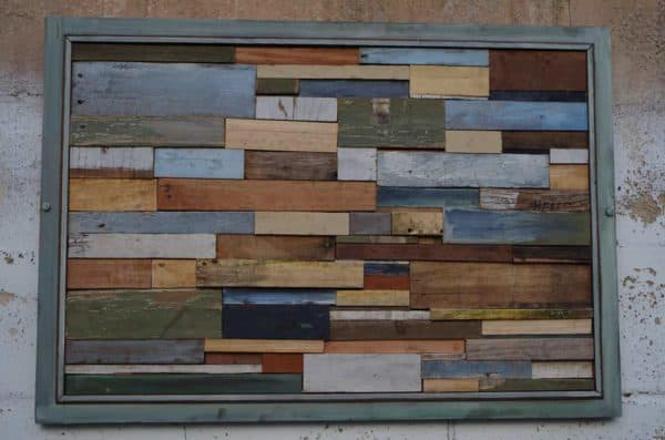 Unique Modern Wall Art Frame From Upcycled Pallet Wood Recycled Art Recycled Pallets