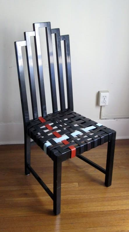 Art Deco Belt Chair Recycled Furniture