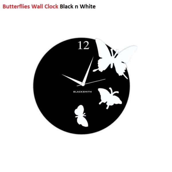 Blacksmith_Butterflies_Wall_Clock_-_Black_and_White_713529