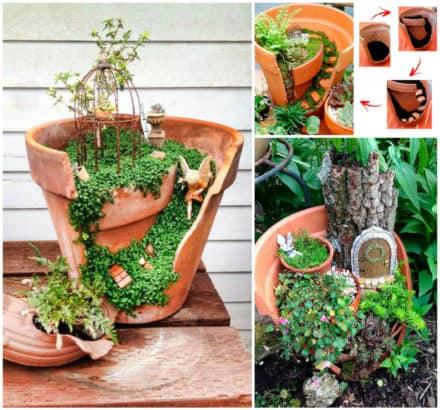 Beautiful Idea For Reusing Broken Clay Pot / Lindas Ideias Para Reaproveitar Vasos De Flores