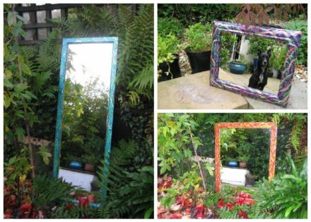 Recycled Mirrors Using Easter Eggs & Chocolate Bars Foil