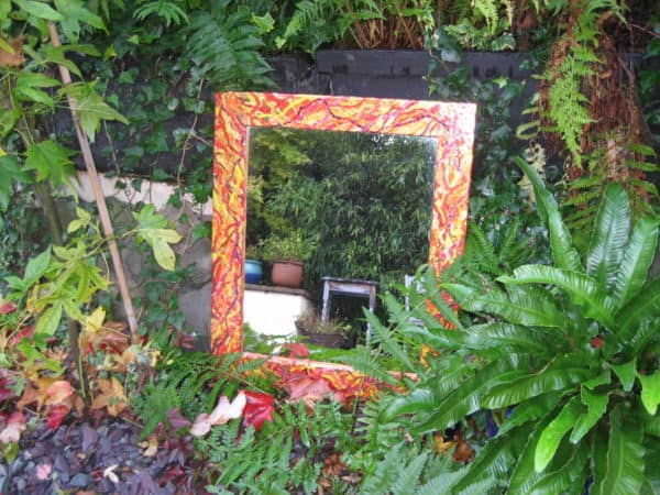 Recycled Mirrors Using Easter Eggs & Chocolate Bars Foil Accessories