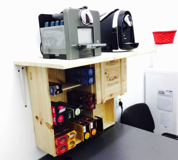 Barista Cabinet Made From 3 Wine Crates Do-It-Yourself Ideas Recycled Furniture