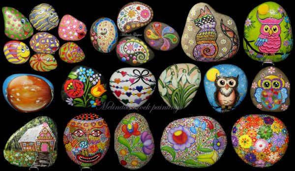 My Art On Rocks Recycled Art