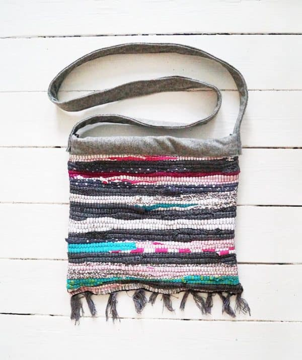 Old Rag Rug Reused Into Cute Summer Bag Accessories
