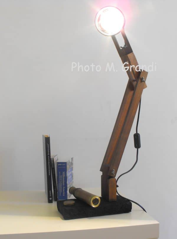 Desk Lamp Industrial Recycling Made From Upcycled Umbrella Slats Lamps & Lights