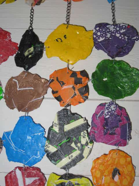 Fused Plastic Bags Wall Decoration Recycled Packaging Recycled Plastic