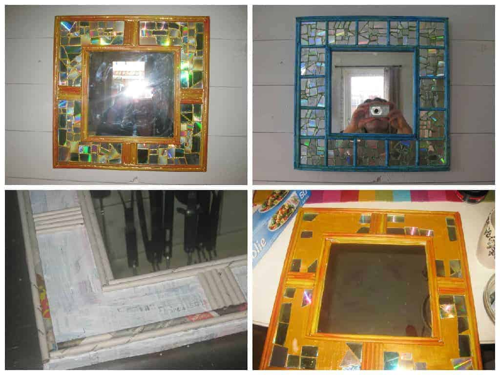 Mirrors Made Out Of Recycled Cd And Rolled Paper • Recyclart