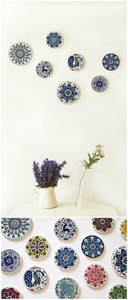 Upcycled Coasters Wall Art
