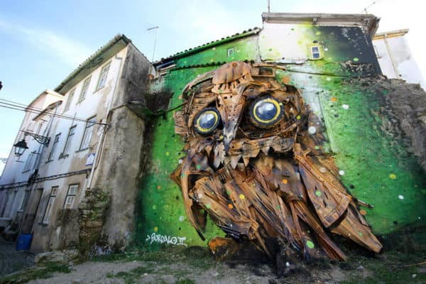 Street Art Created with Recycled Materials By Artur Bordalo Interactive, Happening & Street Art Recycled Art