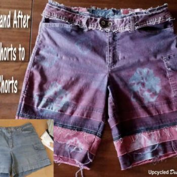 Denim Redo - Upcycled Tie Dye Denim Shorts - Short Shorts to Board Shorts