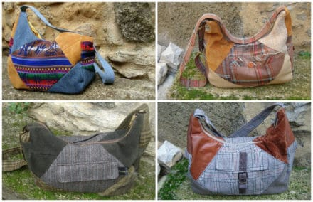 Fabric Diversion: Bags Made Out Of Recycled Clothing