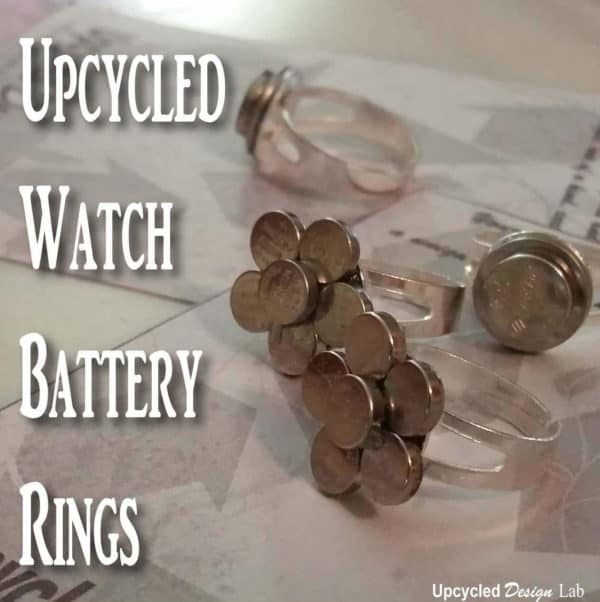 Upcycled Watch Battery Rings Upcycled Jewelry Ideas