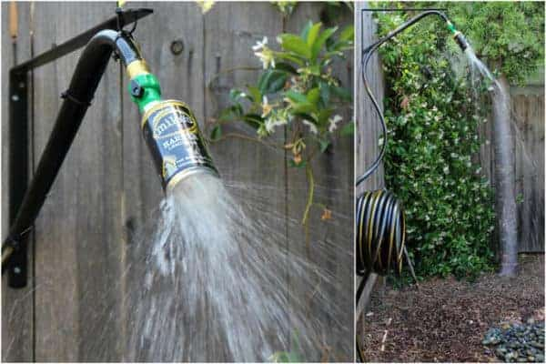 16 diy outdoor showers for this summer recyclart for Diy outdoor shower surfboard