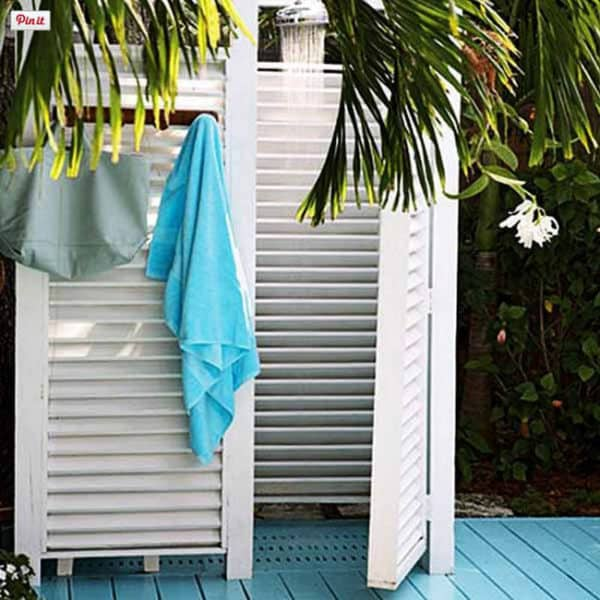 16 diy outdoor showers for this summer recyclart - How to make an outdoor shower ...