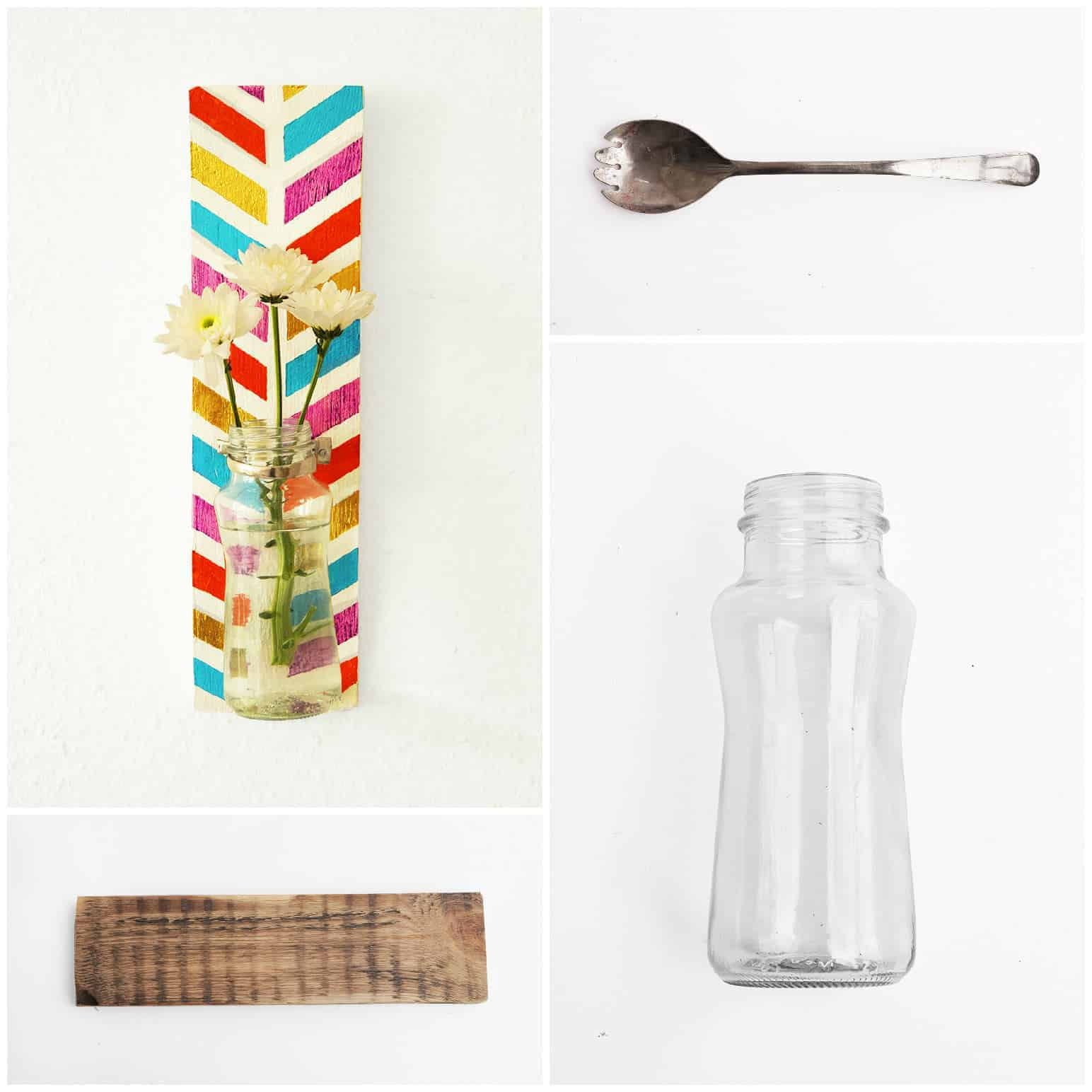 Colored Wall Vase • Recyclart