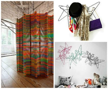 Design-art Wall Made From Repurposed Hangers