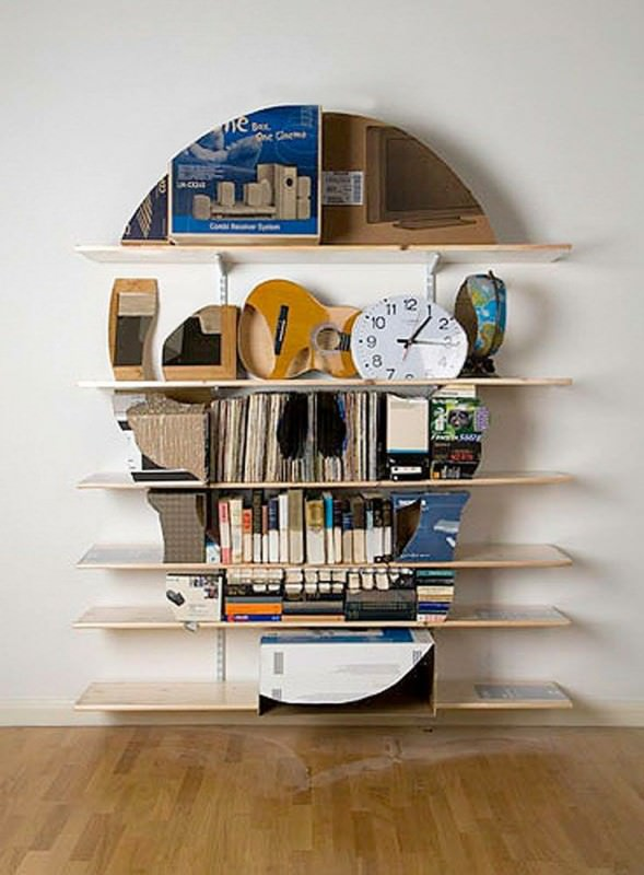 Bookshelf Sculptures Recycled Art