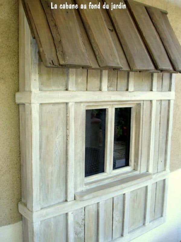 fen tre d corative en bois de palettes decorative window