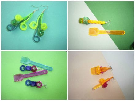 Orecchini Cucchiaini Da Gelato / Earrings Made Out Of Recycled Plastic Ice Cream Spoons