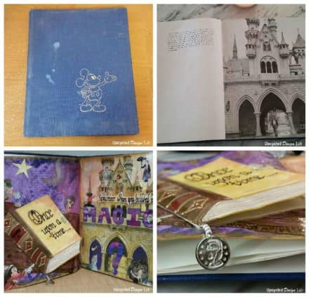 Upcycled Art Journal Book - Remember When You Believed In Magic
