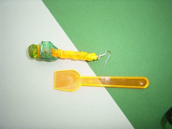 Orecchini Cucchiaini Da Gelato / Earrings Made Out Of Recycled Plastic Ice Cream Spoons Upcycled Jewelry Ideas