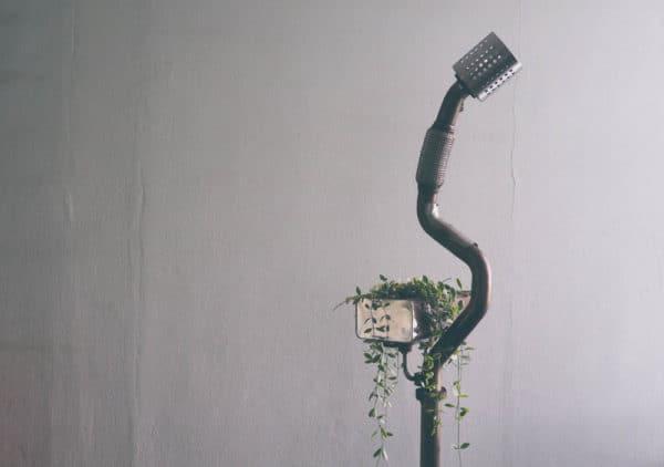Standing Lamp Planter … From Volkswagen Car Scraps Lamps & Lights Mechanic & Friends Recycled Art