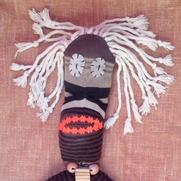 Rasta Chaussette / Rasta Sock Recycled Art