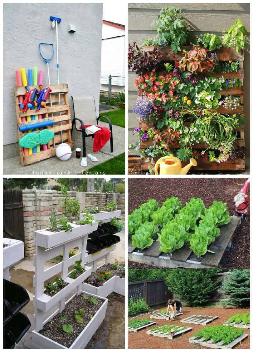 easy pallet ideas for your garden or balcony recyclart - Garden Ideas With Pallets