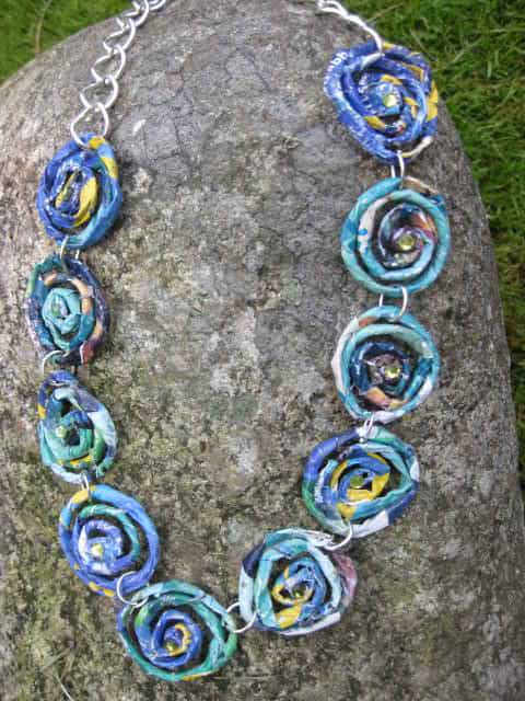 Jewelry Made Out of Recycled Magazines Upcycled Jewelry Ideas