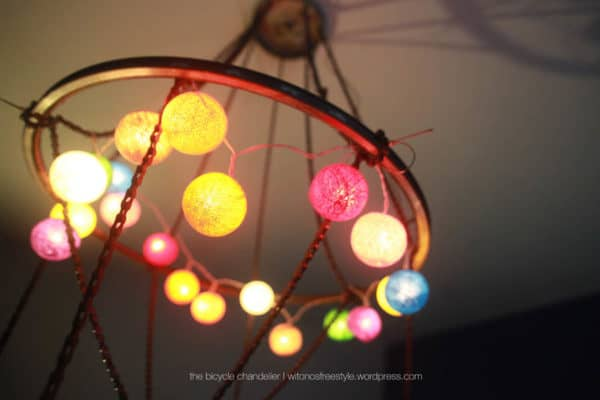 Bicycle Chandelier Lamps & Lights Upcycled Bicycle Parts