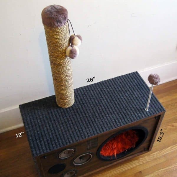 Cat House from an Old Speaker Recycled Electronic Waste Recycled Furniture
