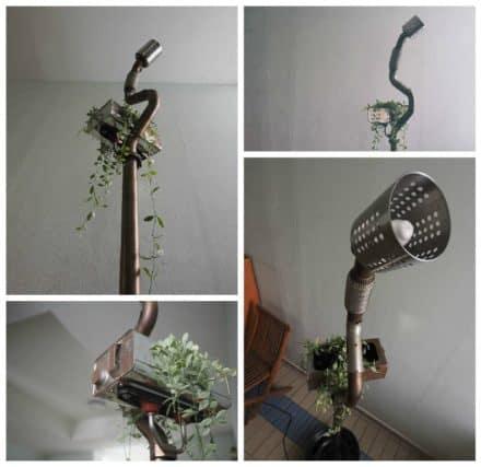 Standing Lamp Planter … From Volkswagen Car Scraps