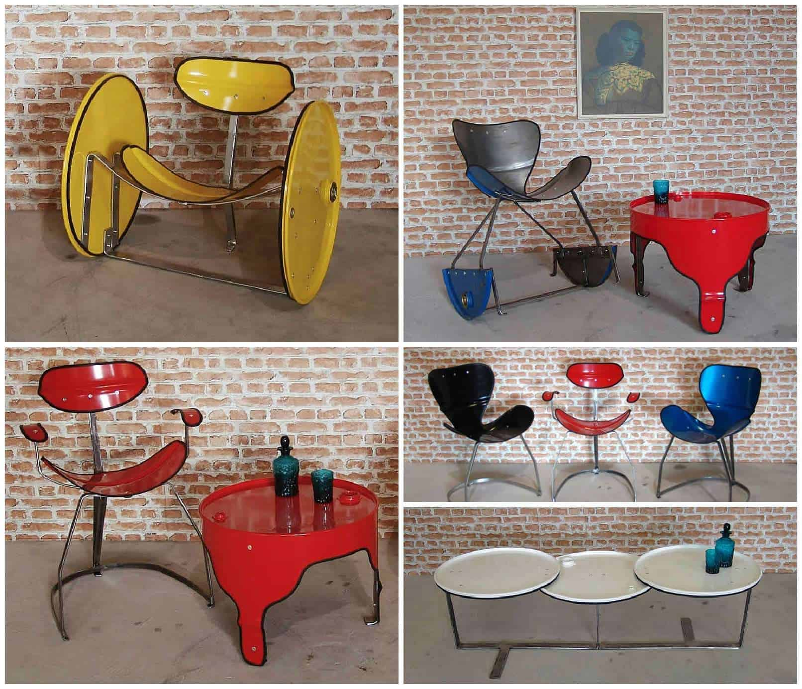how to make oil drum furniture