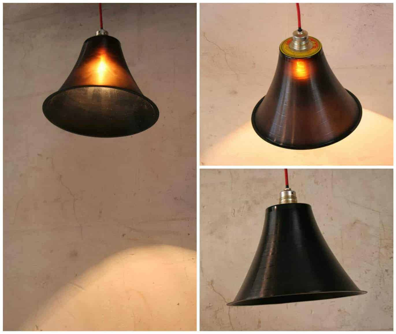 Upcycled vinyl record into beautiful lampshade recyclart mozeypictures Gallery