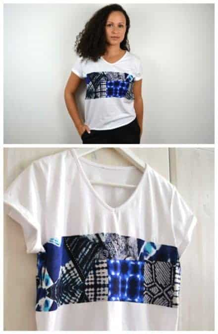 Upcycling an Old T-shirt Into a Modern Top