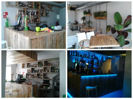 Bar Decoration Made From 70 Recycled Wooden Pallets
