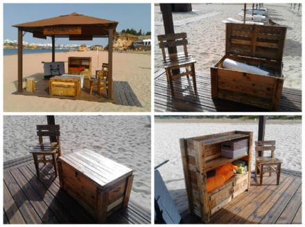Beach Massage Stand Made Out Of Recycled Pallets