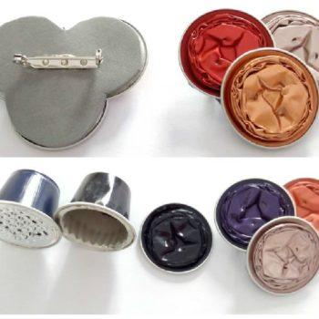 Broches Con Cápsulas de Café / Upcycled Nespresso Caps Into Brooches