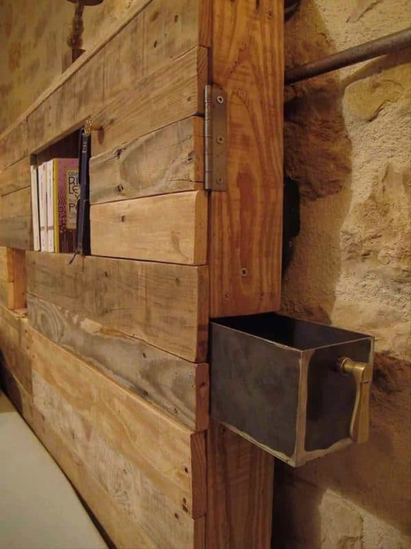 Lightning Headboard Made From Repurposed Pallets Recyclart