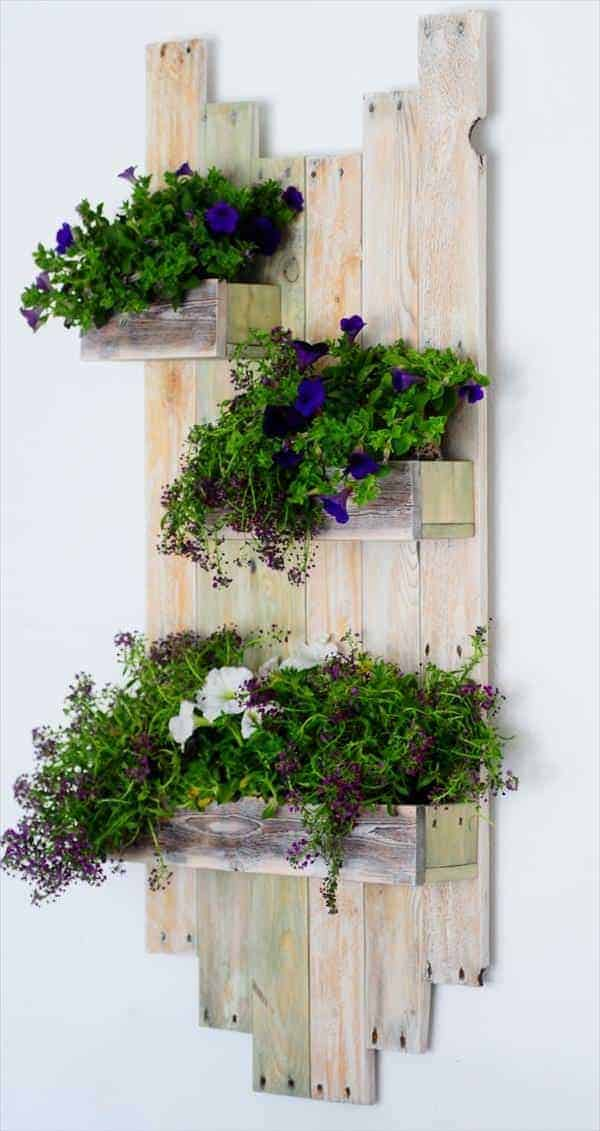 Vintage Wall Planter Made From Reclaimed Pallets Recyclart