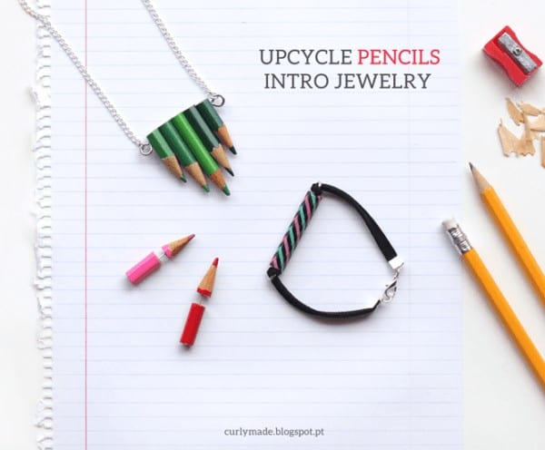 Upcycled Pencils Into Jewelry Accessories Upcycled Jewelry Ideas