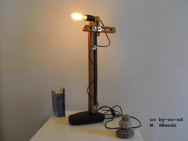 Artisan Lamp Birdye Made From Upcycled Umbrella Slats Lamps & Lights