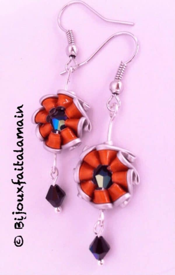 How To Make Sunshine Shaped Earrings Using Coffee Capsules Do-It-Yourself Ideas Upcycled Jewelry Ideas