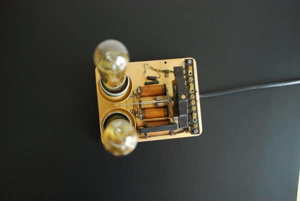 Lamp From An Old Phone Ring With Edison Bulb Lamps & Lights