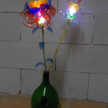 Plastic Glasses & Bottles Flower Lamps